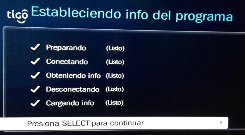 restaurar decodificador tigo one tv