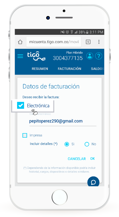 factura tigo digital