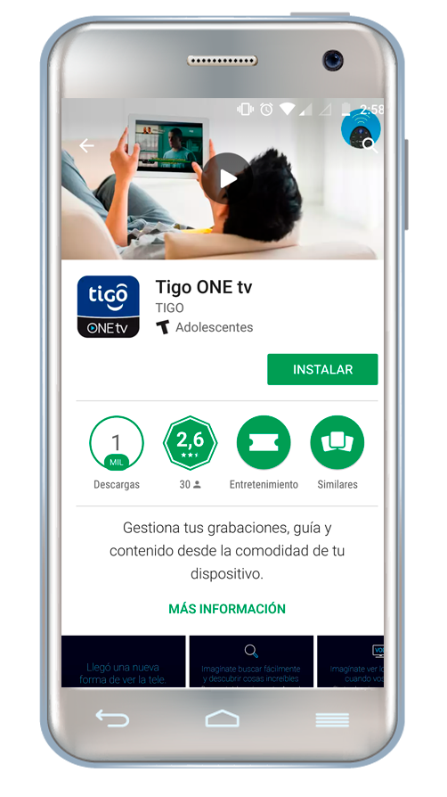 Tigo One Tv para celulares android