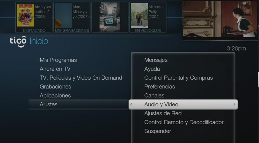 Arreglar salida de video Tigo One Tv paso 5