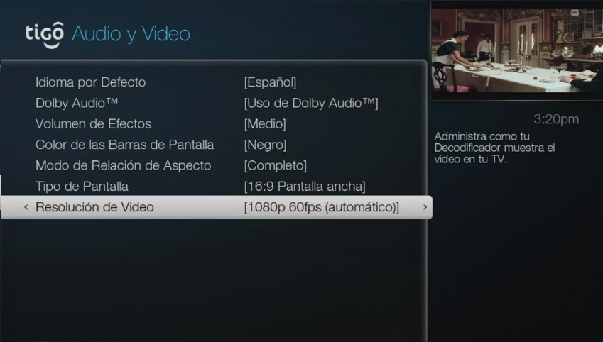 Arreglar salida de video Tigo One Tv paso 6