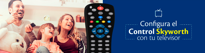 configurar control skyworth tigo para tv
