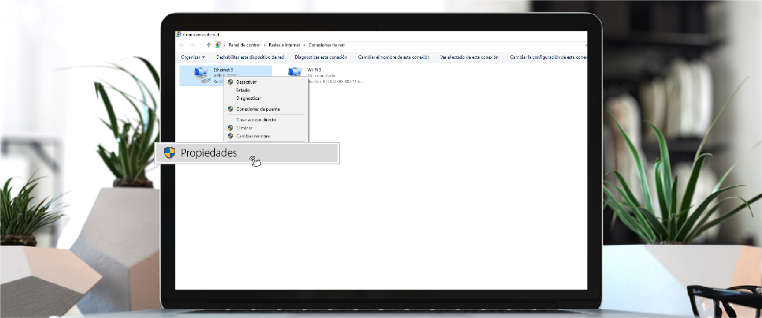 configurar DNS en Windows