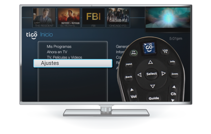 cambiar audio decodificador lite tigo one tv